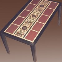 Mosaic Table with Metal Frame (Ceramic Tesserae)