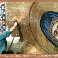 Platytéra (being installed) - Our Lady of the Sign
