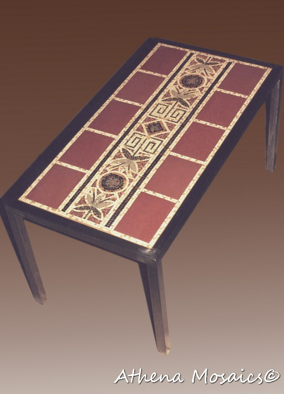 Mosaic Table With Metal Frame (Ceramic Tesserae). Private Residence